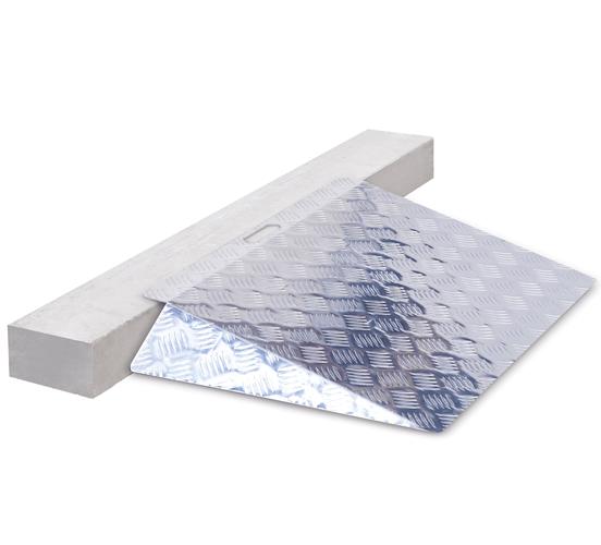 Drempelhulp aluminium kort 12 15 cm