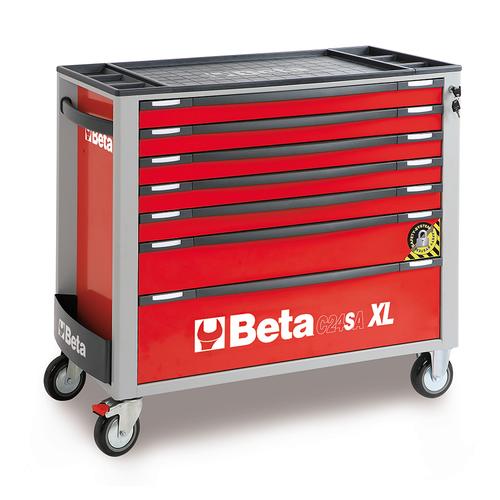Beta extra brede gereedschapswagen met 7 laden - rood 1