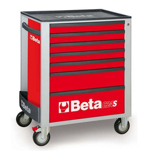 Beta gereedschapswagen met 7 laden - rood 1