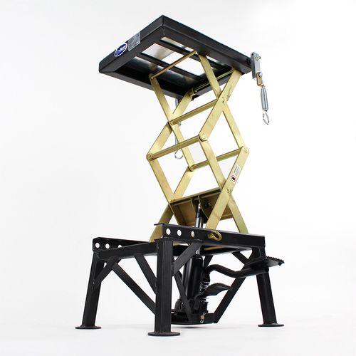 schaarlift voor crossmotor zwart