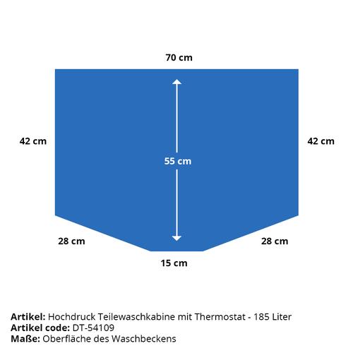 Hogedruk onderdelenreiniger met thermostaat