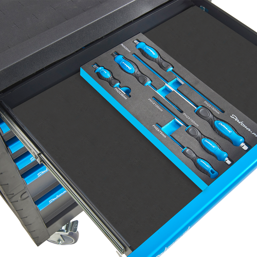 "6-delige kruiskopschroevendraaier set in ""Plus"" softmodule 10"
