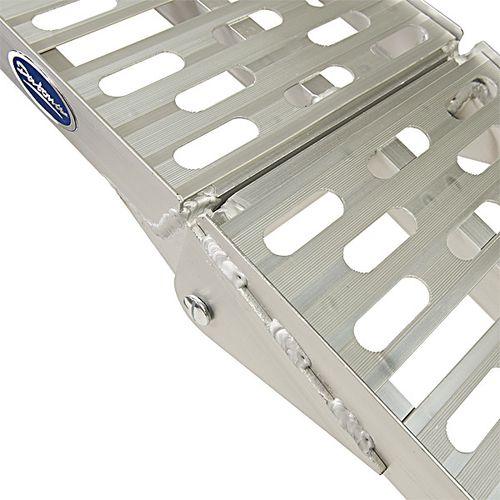 Extra verstevigde aluminium oprijplaat opklapbaar - 225 cm 1