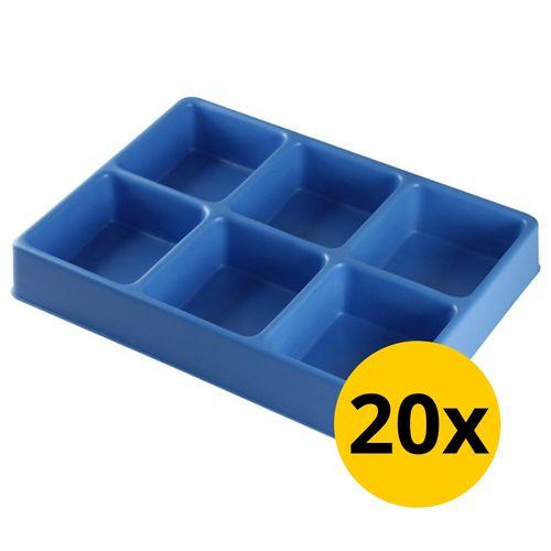 Vakverdeling met 6 compartimenten - 20 stuks 1