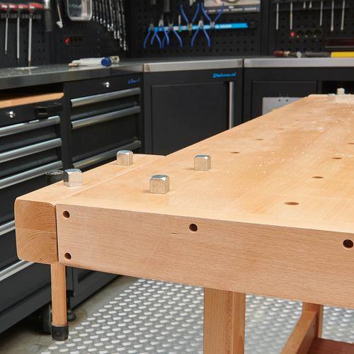 Datona houten werkbank XL met vier bankschroeven