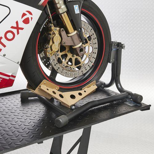 Zwarte motorheftafel 450 kg met gouden rijklem