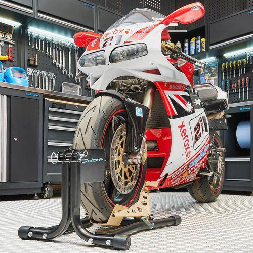 Zwarte motor inrijklem met Ducati