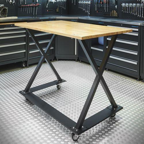 Werkplaatstafel met x poten