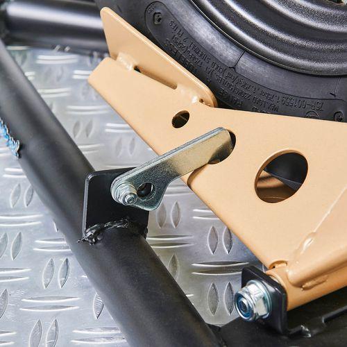 Vergrendeling op de inrijklem voor scooters