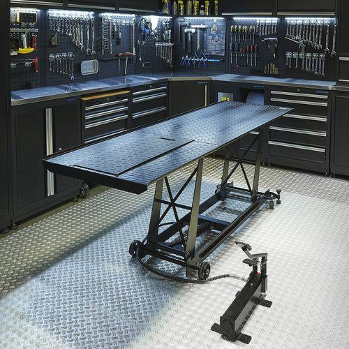 Zwarte motorheftafel 450 kg zonder oprijplaat