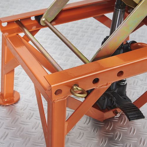 Vergrendelingspen bij KTM crosslift