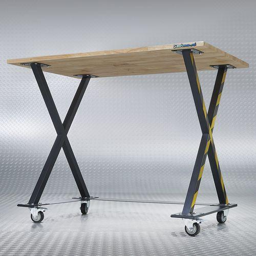Werktafel met x poten