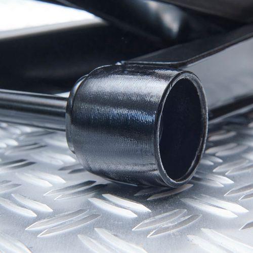 Metalen wielen onder de lage krik 3 ton