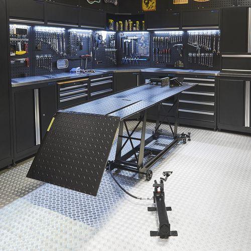 Zwarte motorheftafel 450 kg