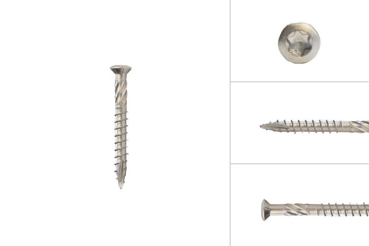 Decking screws stainless steel 410 5 x 50 mm Torx 25 with cutting point - Box 200 pieces - Best sold!