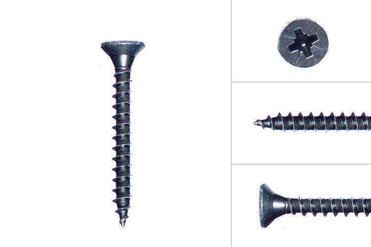 Black Screws Galvanized 5 x 40 mm - 60 pcs