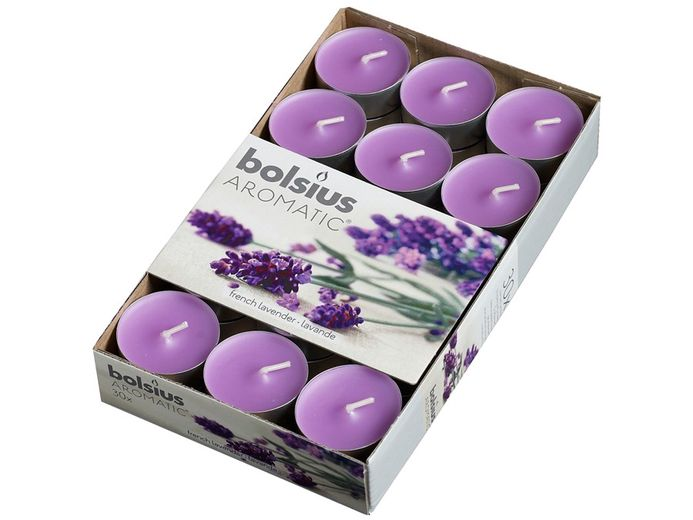 Bolsius geurlichten Aromatic French Lavender - 30 stuks
