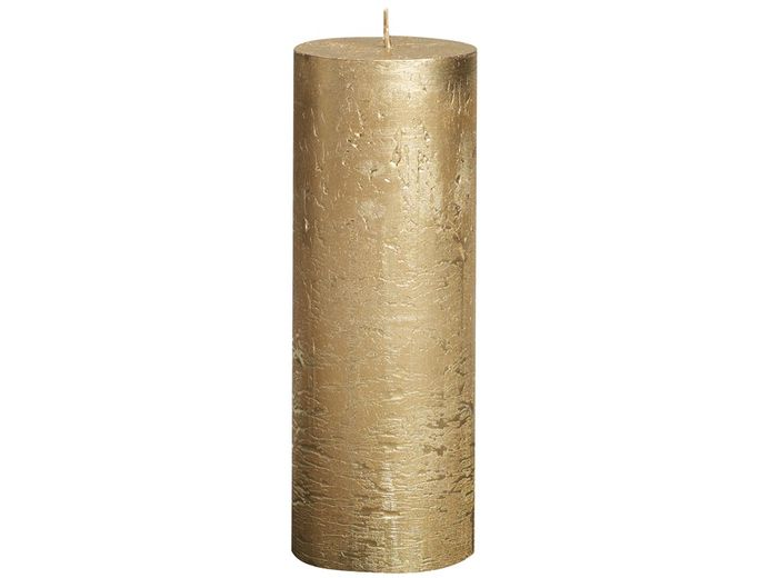 Bolsius stompkaars Metallic goud 190/68 mm