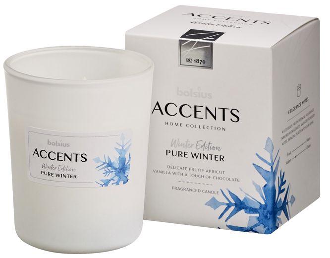 Bolsius Geurglas Accents Pure Winter 100/80 mm
