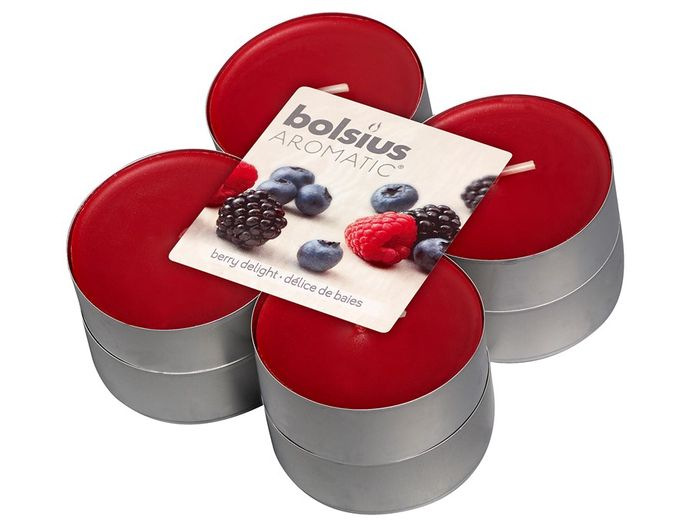 Bolsius maxi geurlichten Aromatic Berry Delight - 8 stuks