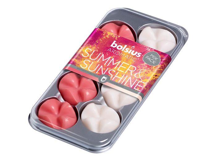 Bolsius waxchips Aromatic Summer & Sunshine - 8 stuks