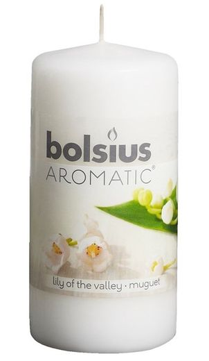 Bolsius stompkaars Aromatic Lily of the Valley 120/60 mm