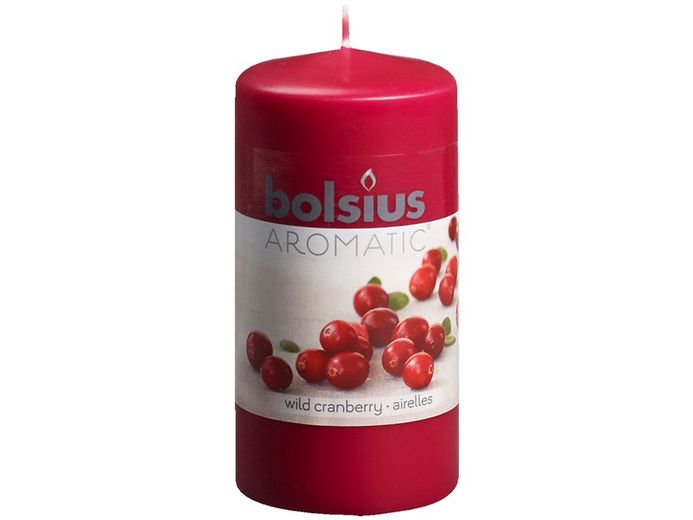 Bolsius stompkaars Aromatic Wild Cranberry 120/60 mm