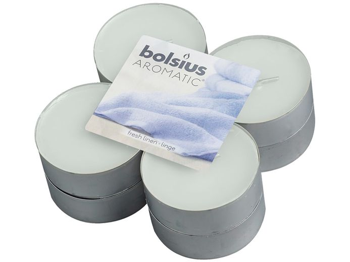 Bolsius maxi geurlichten Aromatic Fresh Linen - 8 stuks