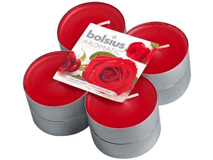 Bolsius maxi geurlichten Aromatic Velvet Rose - 8 stuks