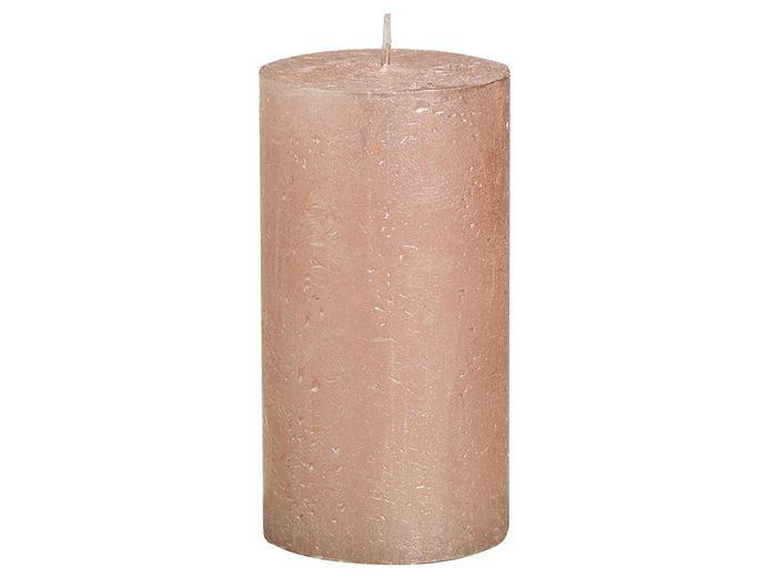 Bolsius stompkaars Metallic rosé goud 130/68 mm