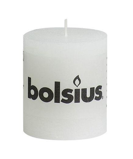 Bolsius stompkaars Rustiek wit 80/68 mm