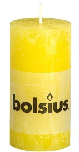 Bolsius stompkaars Rustiek zonnegeel 100/50 mm