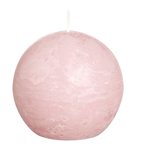 Bolsius bolkaars Rustiek pastel roze Ø 80 mm