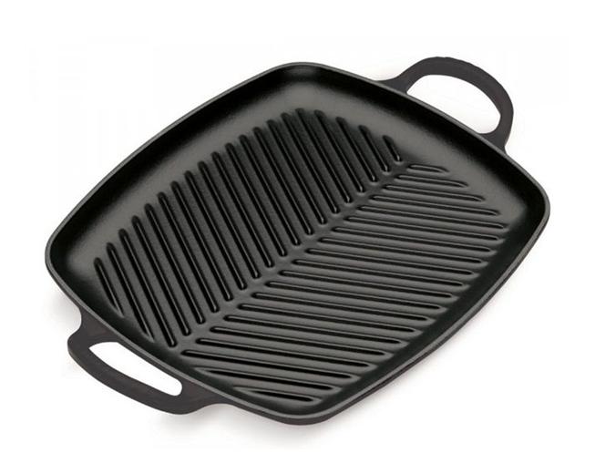 Le Creuset grillplaat rechthoekig zwart 30 x 27 cm