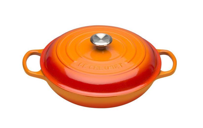 Le Creuset braadpan Campagnard oranje-rood Ø 30 cm
