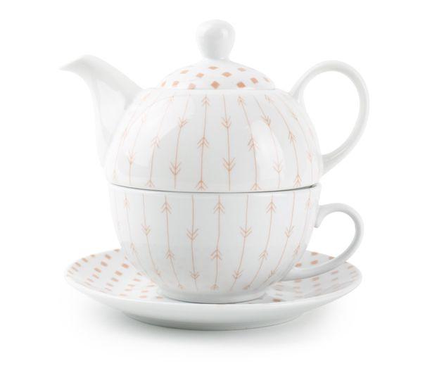 Yong theepot High Tea oranje