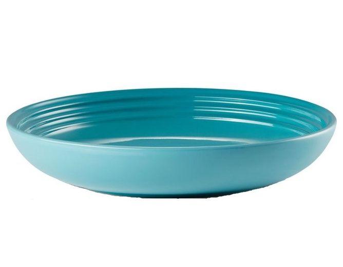 Le Creuset diep bord caraïbisch blauw Ø 22 cm