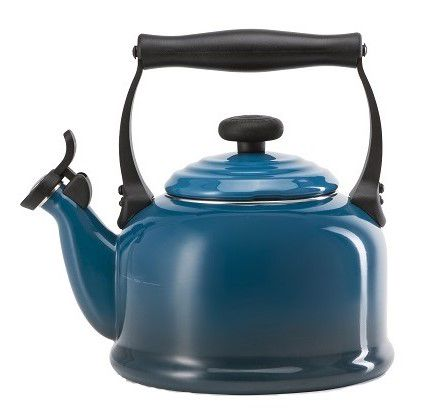 Le Creuset fluitketel Tradition deep teal