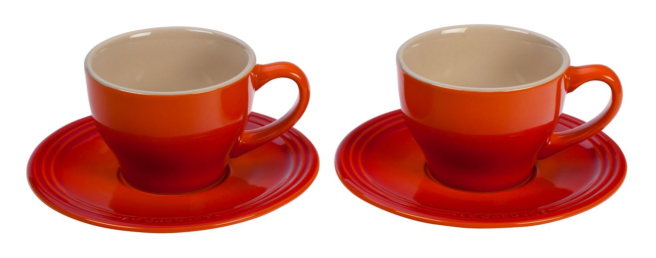 Le Creuset Kop En Schotel Oranje-Rood 20 cl - 2 Stuks