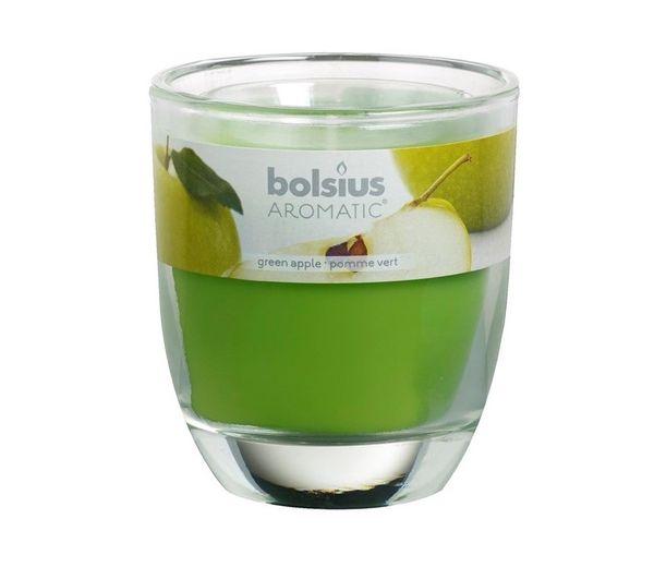 Bolsius geurkaars in glas Aromatic Green Apple 80/70 mm