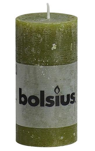Bolsius stompkaars Rustiek olijfgroen 100/50 mm