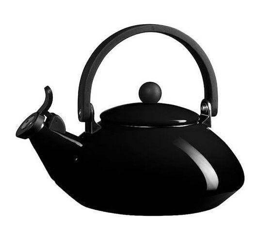 Le Creuset fluitketel Zen zwart 1.5 liter