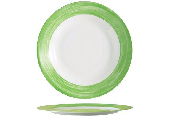 plat-bord-brush-groen-23cm