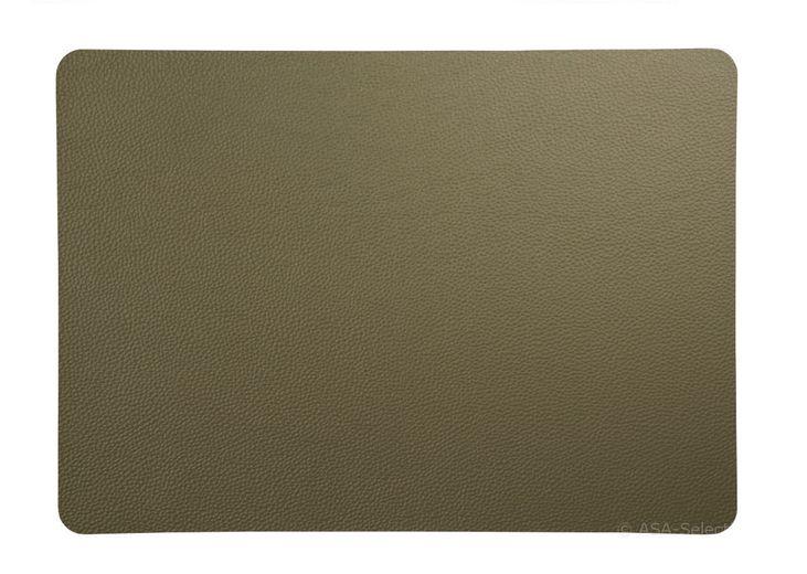 ASA Selection Placemat Leer Groen 33 x 46 cm