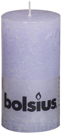 Bolsius stompkaars Rustiek pastel paars 130/68 mm