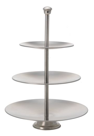 etagere 3-laags rvs