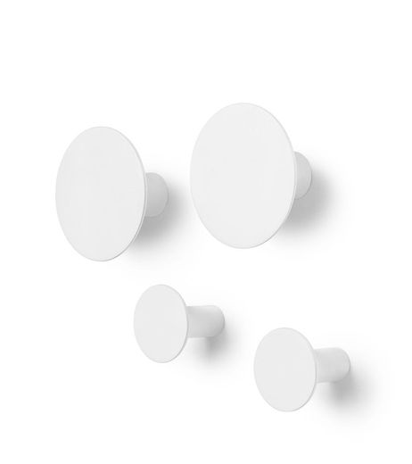 Blomus Ponto wandhaak - 4 stuks - lily white
