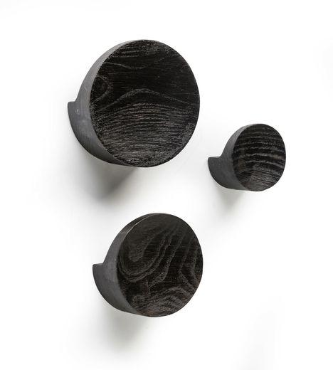 Born in Sweden Hooks 3 wandhaken mixed - zwart