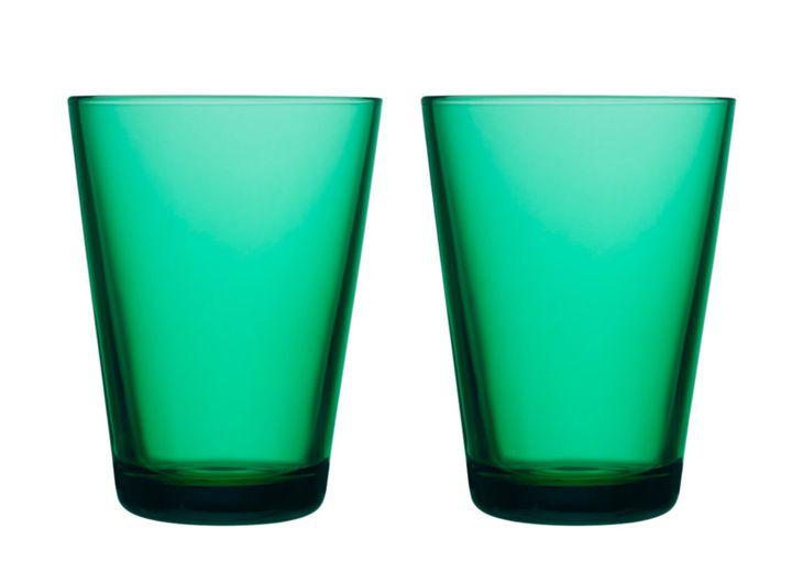 Iittala Kartio glas 40cl emerald - 2 stuks