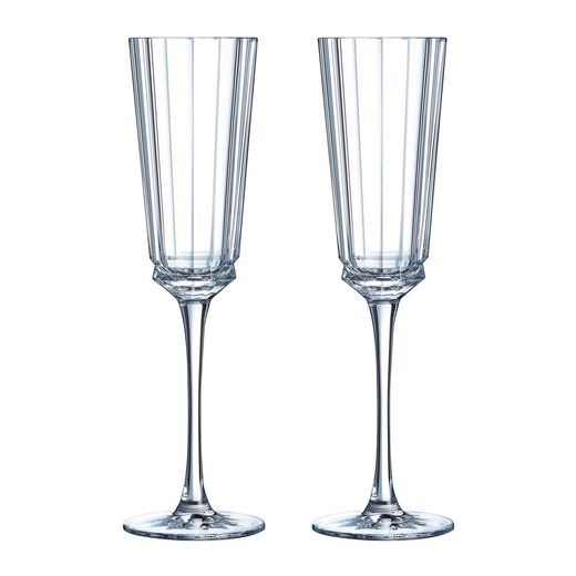 Cristal d'Arques Macassar champagneglas 17cl - 2 stuks